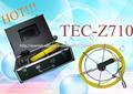 12pcs llevaron lámparas de cámaras de inspección de tuberías de video de visión nocturna serpiente con cable de 20 m tecz710