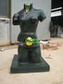 Escultura de bronce verde Dali