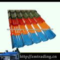 Acero corrugado techo / color de chapa de acero galvanizado recubierto