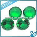 wuzhou ronda brillante corte mm 8 a prueba de calor nano verde sintético de color verde esmeralda cz