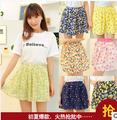 el 2014 falda de verano faldas plisadas peng peng dulce punto de onda tamaño falda de gasa de flores culotte f