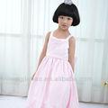 2013 nueva moda de color rosa bordado de perlas baratas de larga niñas vestidos de fiesta