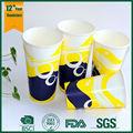 fabricante de vasos desechables de papel para bebidas