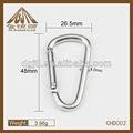 aluminio material de metal mosquetón 50mm venta al por mayor