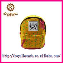 Calidad del bolso del trébol de cuatro hojas de color amarillo lienzo estudiante de secundaria