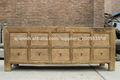 El chino antiguo del Gabinete de cocina de madera blanqueada natural de reciclar