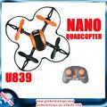 mini giratoria 6axis 2.4G OVNI con 3d drones contol remoto helicóptero cuádruple para la venta con la protección de la cubierta