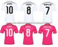 Superior calidad de tailandia tailandés 14-15 cristiano ronaldo karoos james camiseta del real madrid