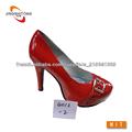 rouge vif dame talon haut chaussure de mode