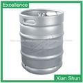 20L 30L 50L sexto medio de barriles de acero inoxidable barril de cerveza para la venta