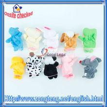 Pcs 10/conjuntos de terciopelo estilo de los animales dedo marioneta de juguetes