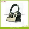 2.4G sem fio TV fone de ouvido com microfone e bateria recarregável