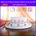 moderno lujo cama con forma ronda