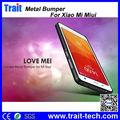 8 colores para elegir LOVE MEI Curvo Metal Bumper rígido case para Miui XiaoMi 4 MI4 Paypal Aceptado