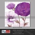 Pourpre de fleur de pavot oeuvre peinture de toile