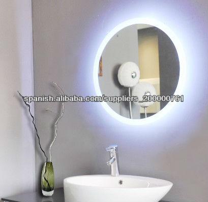 Espejo de ba o redondo con luz for Bano con espejo redondo