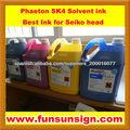 Tinta base solvente ( de tinta para la cabeza Seiko )