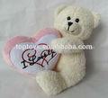 Xcl2735 bonito oso de peluche w/corazón de peluche