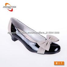 charol damas lindo zapatos bajos del talón