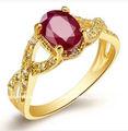 forme la joyería, anillos de rubíes naturales, anillos del oro 18K,anillos de compromiso,GR0002R