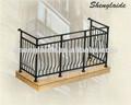aleación de aluminio barandillas de los balcones de vidrio H9009( fabricante)