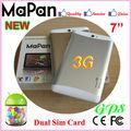 mapan tmk de doble núcleo android 3g dual de la tarjeta sim ranura 7 pulgadas tablet pc 3g ranura para tarjeta sim