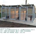 Corral de perros de alambre de metal soldadas uso al aire libre con techo portabled
