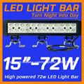 72w fuera de carretera led barra de luz para el carro