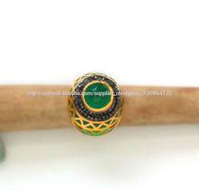 ónix verde oro plateado anillo de plata con diamante natural código 316