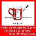 Cuadro rojo taza de nescafé para taza de promoción