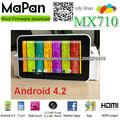 Mapan mejor venta de tablet pc androide con 4.2/7 más barato de pulgada androide tableta de doble núcleo