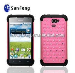 Diamond Bling Hard Back Case For Huawei M931/Pink Cell Phone Case For Huawei M931/Crystal Case For HuaWei M931