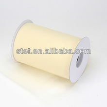 Ivory organza textile for wedding decoration