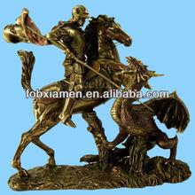 George Slaying the Dragon Resin Model Figures