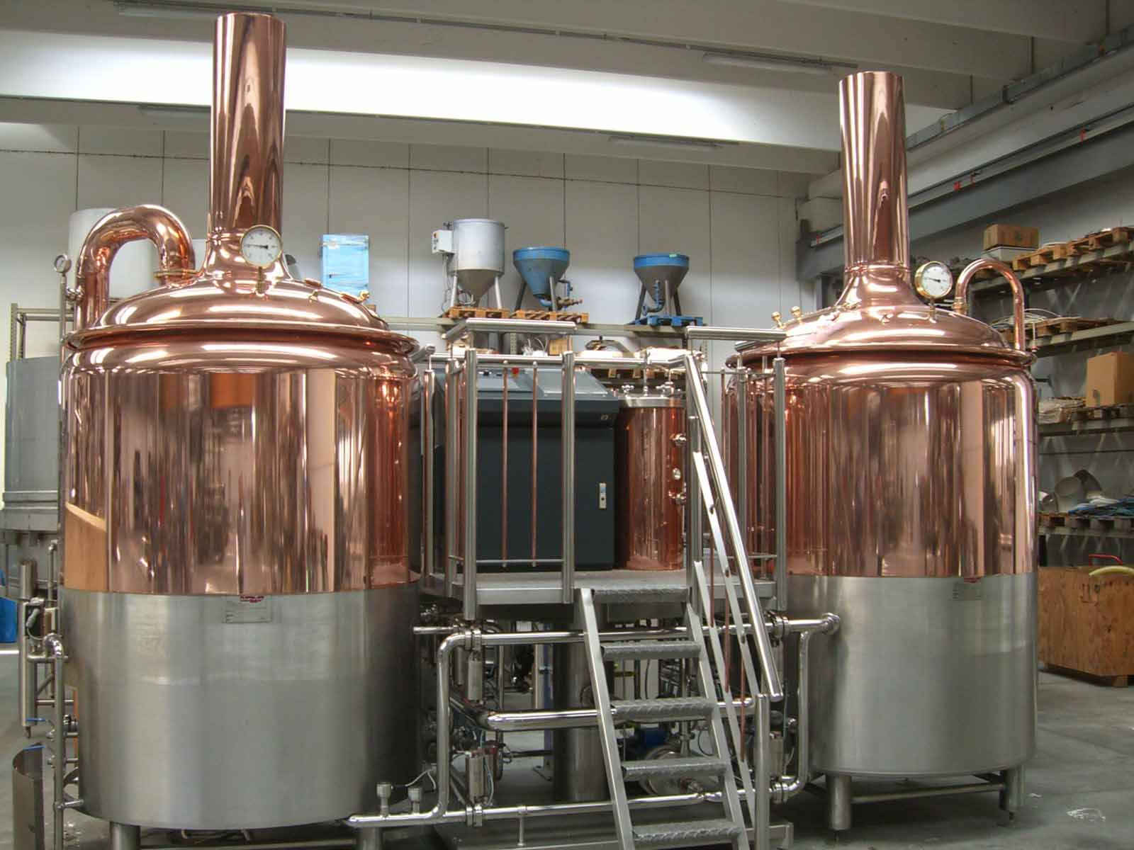 New 10 Hl Fully Automatic Operated Copper Brewhouse