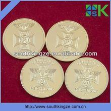 1oz .999 fine gold plated german eagle old coins