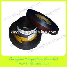 Fridge door magnetic stripe with adhesive