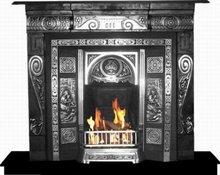 Gas Fireplace, Fireplace, Cast Iron Fireplace, Mantel,
