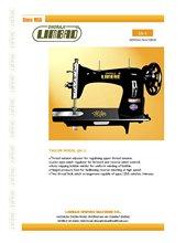 JA MODEL TYPES HALF SUTTEL Sewing Machine