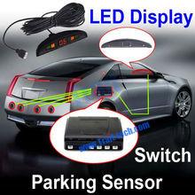 Cheapest Double CPU 4 Pcs LED Parking Sensor System Car Reverse Backup Radar