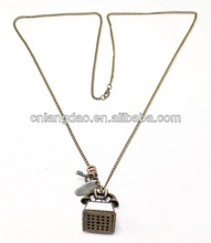 2013 Alexander Bell Phone Charm Chain Necklace metal jewelry wholesale