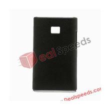 """Pure Color Design Hard Sticker Skin for LG E400"""",Black"""