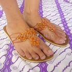 Resin Ball Bead Flip Flops