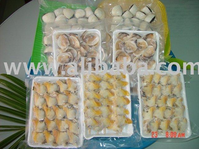 Palourde congelée : Viande cuite surgelée de palourde, palourde bouillie congelée