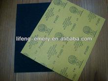 wet&dry abrasive sanding paper sheet for paint industry