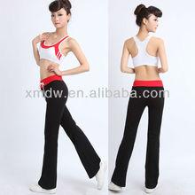 Ladies sexy sportswear fitness wear active wear workout suit sports bra+pants set