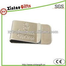 Engraved metal money clip