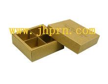 custom kraft paper chocolate packaging box for 4 pack