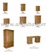 Edmund Bedroom Set (Pine Wood)