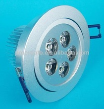 5X1W Silvery Round Recessed Led Down Light 6500K 85-265V AC